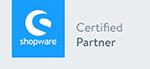 Logo Shopware Certified Partner, Shopware Agentur wilde van rhee