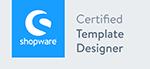 Logo Shopware Certified Template Designer, Shopware Agentur wilde van rhee