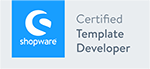 Logo Shopware Certified Template Developer, Shopware Agentur wilde van rhee