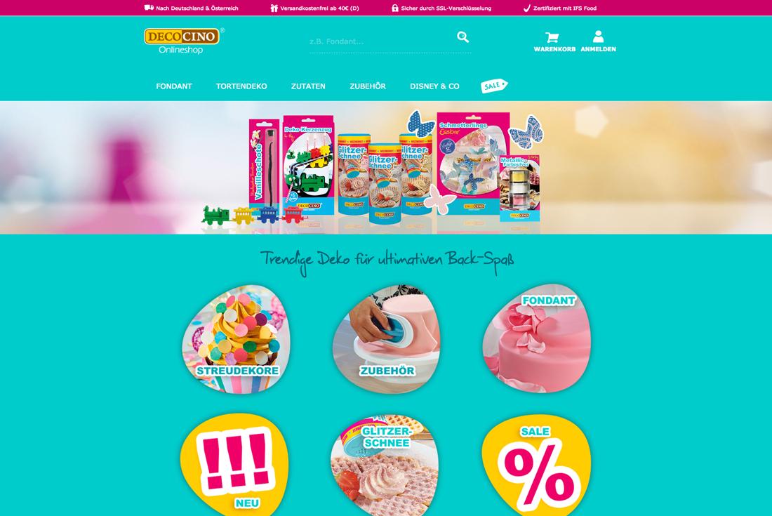 Onlineshop von Decocino, entwickelt durch die Online Agentur wilde van rhee
