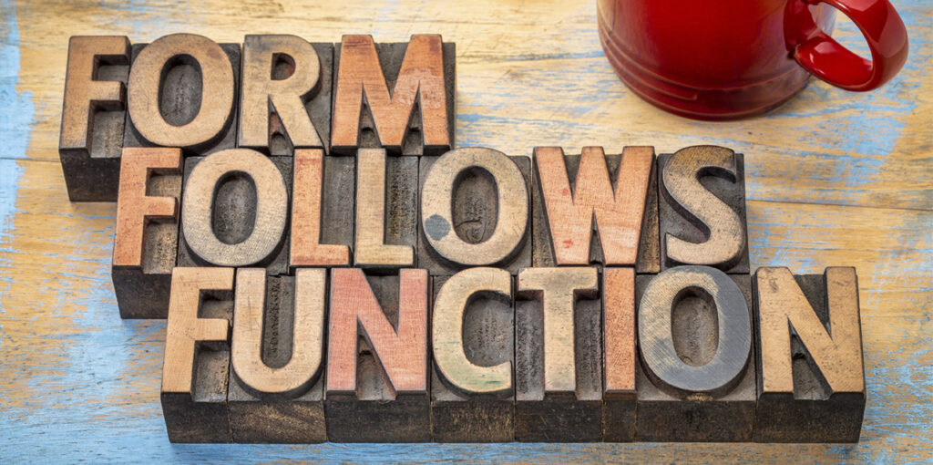 Form Follows Function im Webdesign